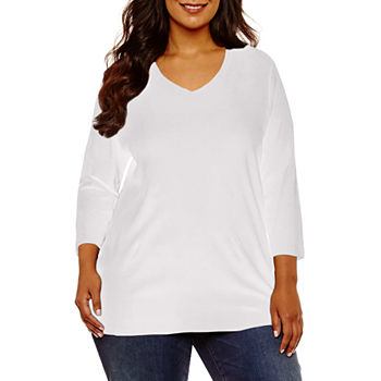 Clearance Department: Plus Size, White - JCPenney