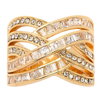 Sparkle Allure Cubic Zirconia 14K Gold Over Brass Band
