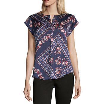 6b7f7f5af2c42b Women's T-Shirts | V-Neck Shirts for Women | JCPenney