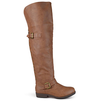 e1e72a230 Journee Collection Womens Pitch Over the Knee Boots Block Heel Zip. Add To  Cart. wide calf available