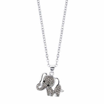 Sparkle Allure Sparkle Allure Sparkle Allure Womens 3/4 CT. T.W. Clear Pendant Necklace ICSbHjts