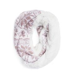 Muk Luks Snowflake Loop Knit Cold Weather Scarf
