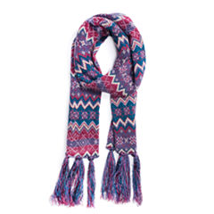 Muk Luks Zig Zag Oblong Pattern Cold Weather Scarf