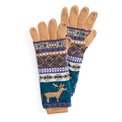 Muk Luks Multi 3-In-1 Knit Cold Weather Gloves