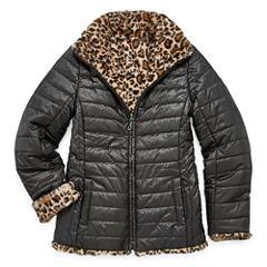 Gallery Midweight Leopard Puffer Jacket - Girls-Big Kid