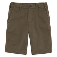 Arizona Stretch Chino Short Boys 8-20, Slim and Husky