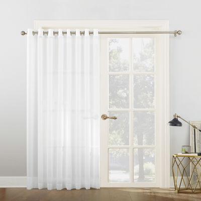 sun zero emily patio sheer grommettop patio door curtain - Sheer Drapes