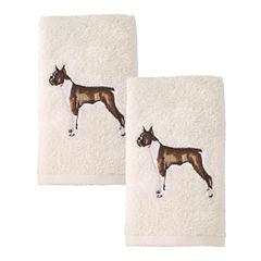 Avanti 2pk Dog Boxer 2-pc. Embroidered Hand Towel