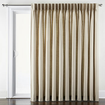 Jcpenney Home Supreme Energy Saving Light Filtering Pinch Pleat Patio Door Curtain