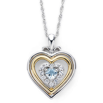 Aquamarine heart fine necklaces pendants for jewelry watches 5736 aloadofball Image collections