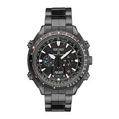 Seiko Mens Patriots Jet Team Limited Edition Prospex Radio Sync Solar Black Bracelet Watch SSG007