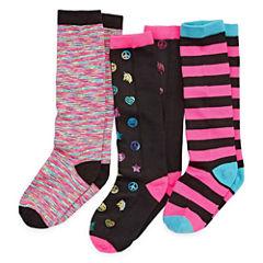 Total Girl 3 Pair Knee High Socks