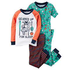 Carter's 4-pc. Kids Pajama Set - Toddler Boys