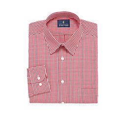 Stafford Travel Performance Super Long Sleeve Broadcloth Checked Dress Shirt