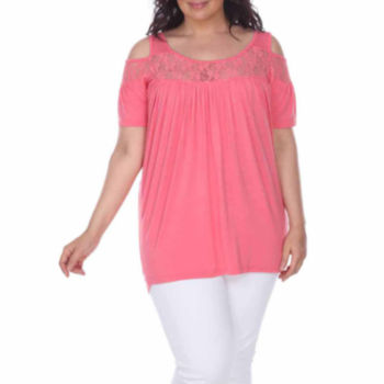 Plus Size Orange Tops For Women Jcpenney