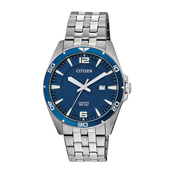 Citizen Mens Silver Tone Stainless Steel Bracelet Watch - Bi5058-52l