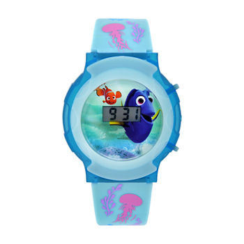 Disney Finding Nemo Girls Digital Blue Strap Watch-Fdo3054jc