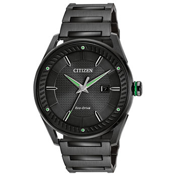 Drive from Citizen Mens Black Stainless Steel Bracelet Watch - Bm6985-55e