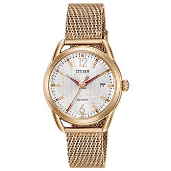Drive from Citizen Womens Rose Goldtone Stainless Steel Bracelet Watch - Fe6083-72a