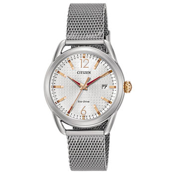 Drive from Citizen Womens Silver Tone Stainless Steel Bracelet Watch - Fe6081-51a