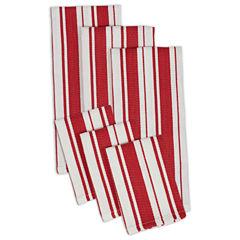 Design Imports Set of 3 Kitchen Towels and Set of 3 Dishcloths