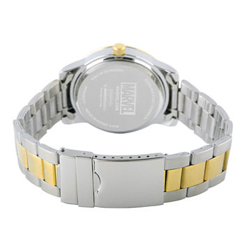 Marvel Classic Marvel Mens Two Tone Stainless Steel Strap Watch-Wma000057