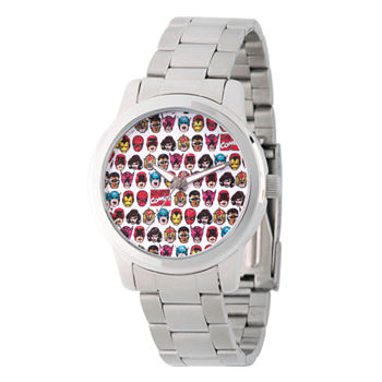 Marvel Comics Marvel Mens Silver Tone Stainless Steel Strap Watch-Wma000062