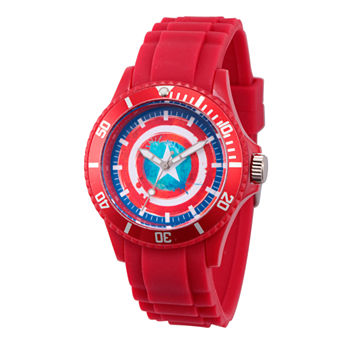 Marvel Classic Marvel Mens Red Strap Watch-Wma000066
