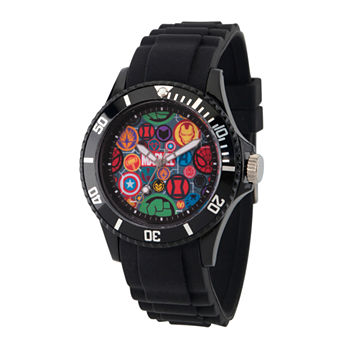 Marvel Classic Marvel Mens Black Strap Watch-Wma000068