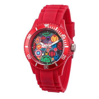 Marvel Classic Marvel Mens Red Strap Watch-Wma000069