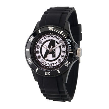 Marvel Classic Marvel Mens Black Strap Watch-Wma000071