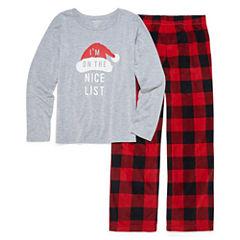 North Pole trading Co. Checkin it Twice Microfleece Famly Pajama Set - Girls