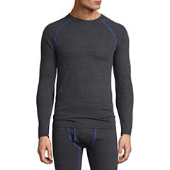 Fruit Of The Loom Breathable Mesh Crew Neck Long Sleeve Thermal Shirt