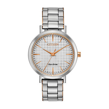 Drive from Citizen Womens Two Tone Stainless Steel Bracelet Watch - Em0766-50a