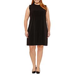 Maggy London Intl Sleeveless Shift Dress-Plus