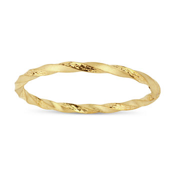 18K Gold Over Silver Round Bangle Bracelet