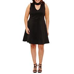Trixxi Sleeveless Party Dress-Juniors Plus