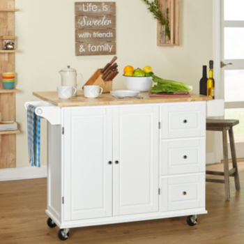 White Kitchen Carts & Islands For The Home - Jcpenney