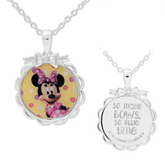 Disney Silver Plated Brass Minnie Mouse Pendant Necklace