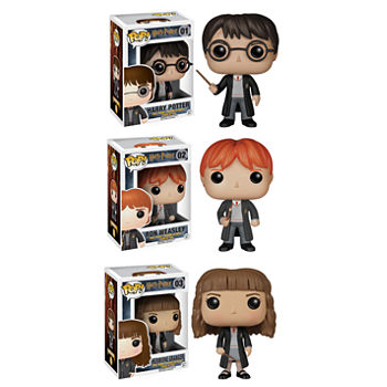 Funko Harry Potter Pop! Movie Vinyl Collectors Set: Harry Potter  Ron Weasley And Hermione