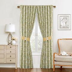 Waverly Paisley Verveine Rod-Pocket Curtain Panel