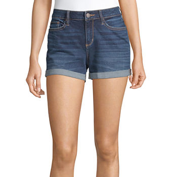 "a.n.a Womens Mid Rise 3.5"" Denim Short"