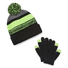 Weatherproof Beanie & Glove Set- Boys Big Kid