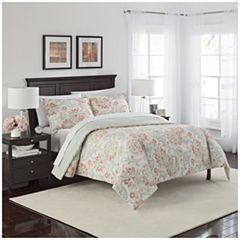 Marble Hill Carlisle 3-pc. Floral Midweight Reversible Comforter Set