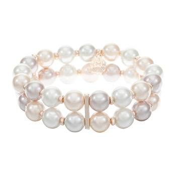 Monet Jewelry Simulated Pearl Stretch Bracelet