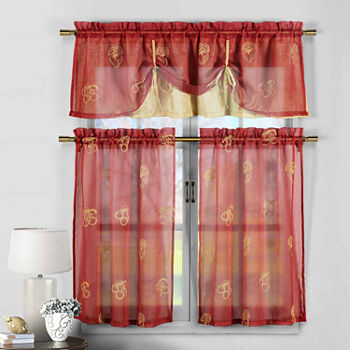jcpenney red curtains - Home The Honoroak