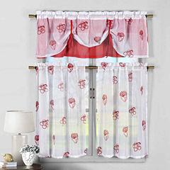 Duck River Dolores 3-pc. Kitchen Curtain Set
