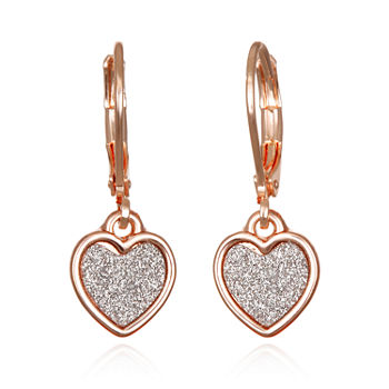Bijoux Bar Heart Drop Earrings
