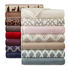 JCPenney Home™ Velvet Plush Blanket