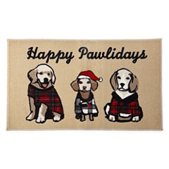 North Pole Trading Co. Happy Pawliday Rectangular Rug